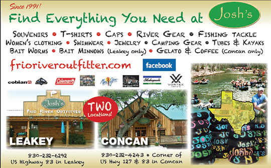 Josh's Frio River Outfitter - Fishing, tubing, souvenirs in Leakey and Concan